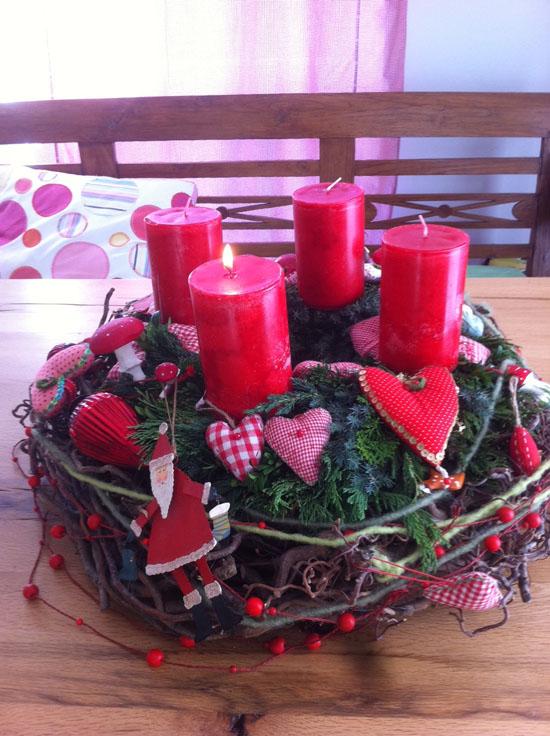 Kerzen adventskranz rosa frohe weihnachten in europa - Adventskranz fur kindergarten ...