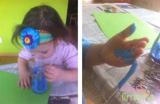 Schritt-1-Fingerfarbenhahn