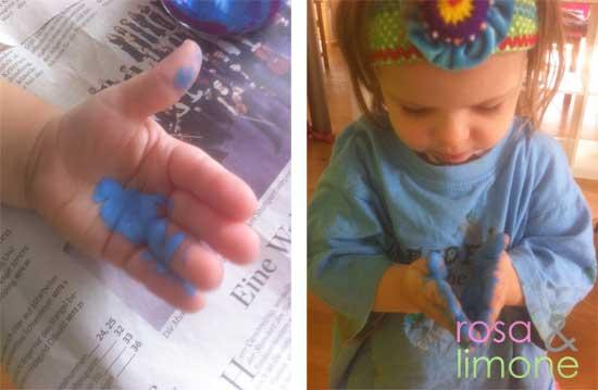 Schritt-2-Fingerfarbenhahn