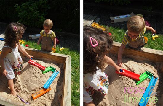 4-Sandkugelbahn-Erzi-rosa&limone