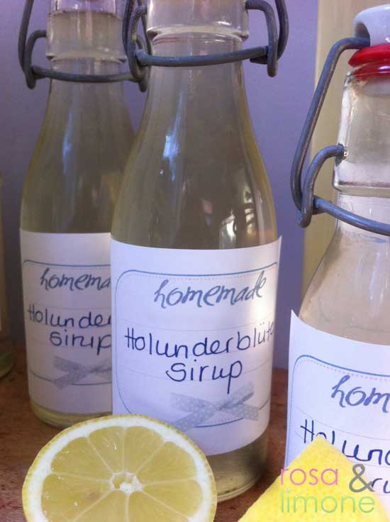Holunderblütensirup-rosa&limone