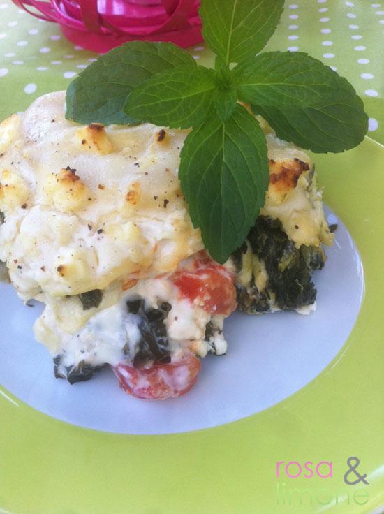 Lasagne-mit-Blattspinat-und-Schafskäse