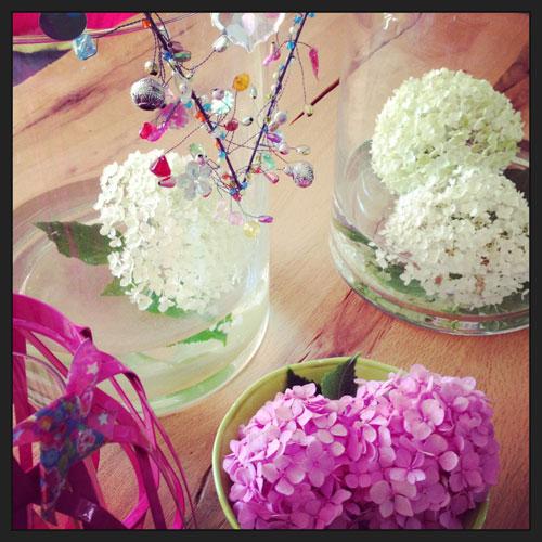 Hortensien-rosa&limone