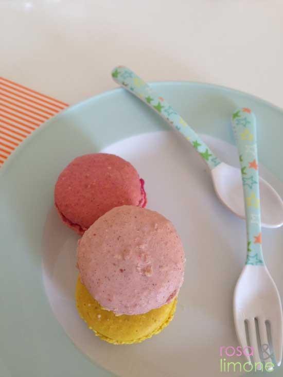 Macarons-rosa&limone