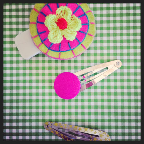 Spängchen-rosa&limone