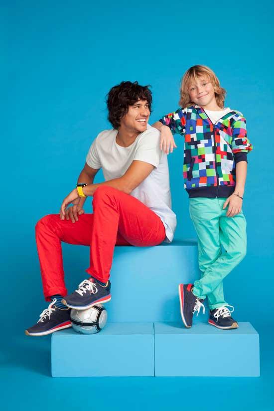 Mann-und-Junge-Crocs-Sneakers-rosa&limone