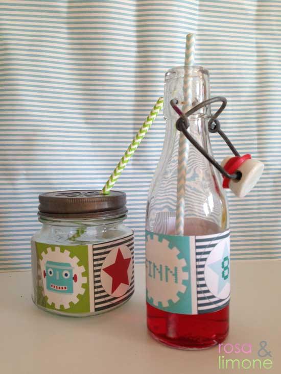 Robotergeburtstag-Getränke-Finn-rosa&limone