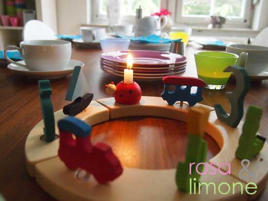 Tisch-rosa&limone