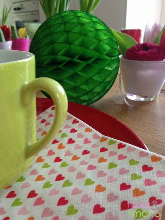 Geburtstagstischdeko-Serviette-rosa&limone