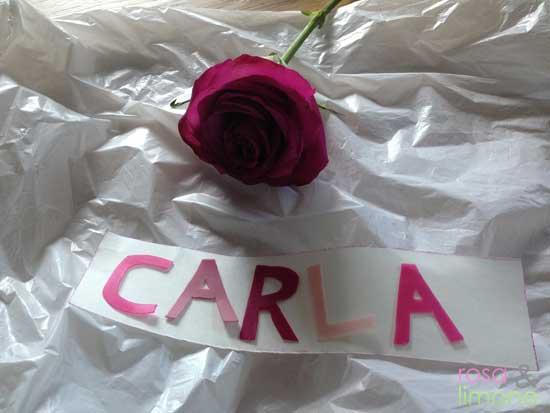 Carlas-Taufkerze-Buchstaben