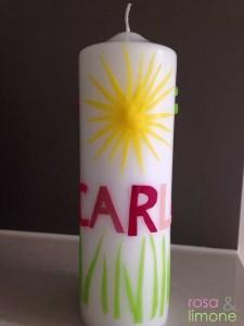Carlas-Taufkerze-Sonne