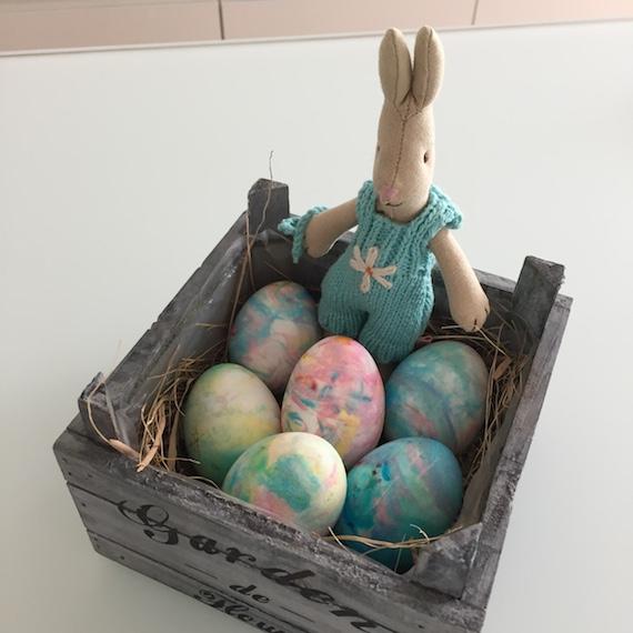 Endergebnis marmorierte Eier