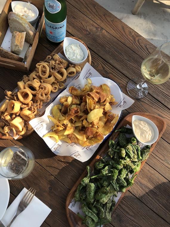 Ibiza Essen am Strand