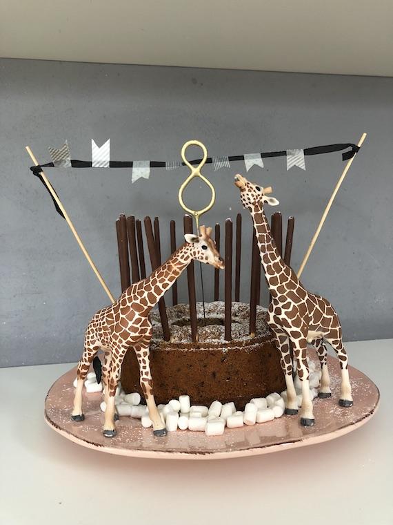 Giraffen Kindergeburtstagskuchen Titel