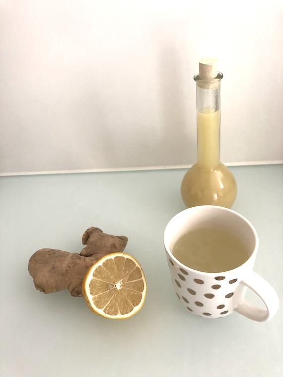 Ingwer-Zitronen-Honig Sirup