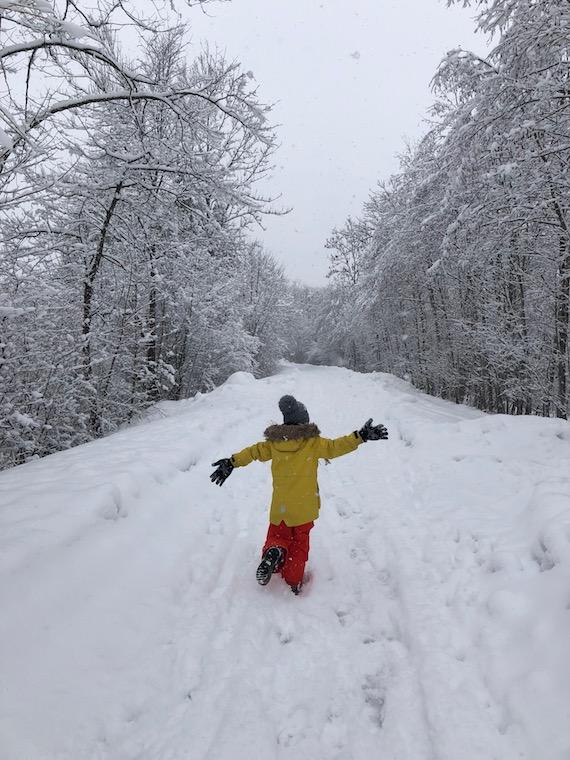 Winterspaziergang mit der Kleinsten